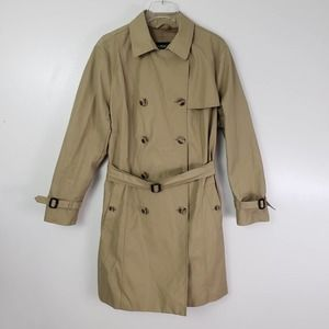 Eddie Bauer Double Breasted Belted Trench Coat XXL